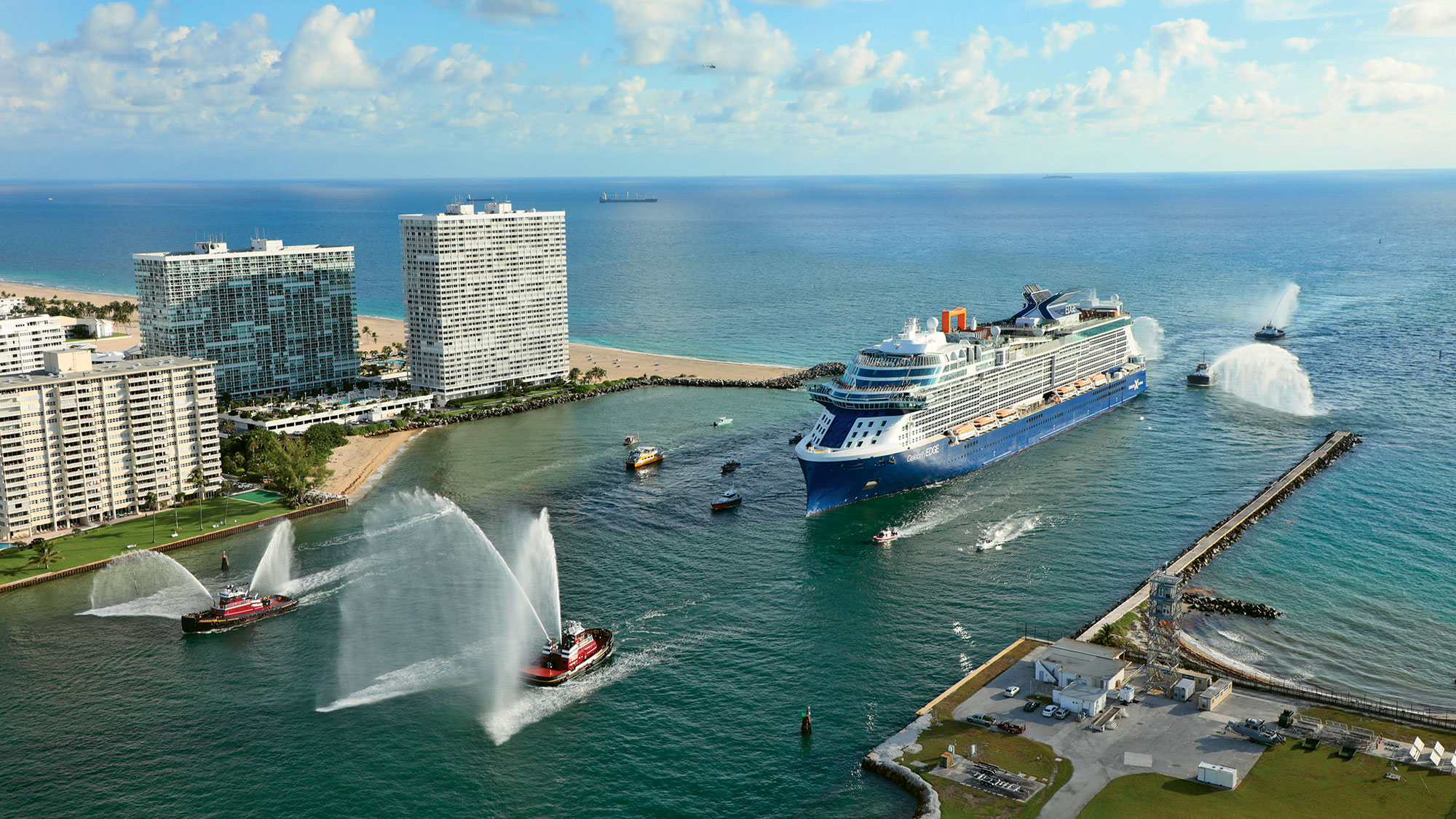 Celebrity Edge arrives in Fort Lauderdale