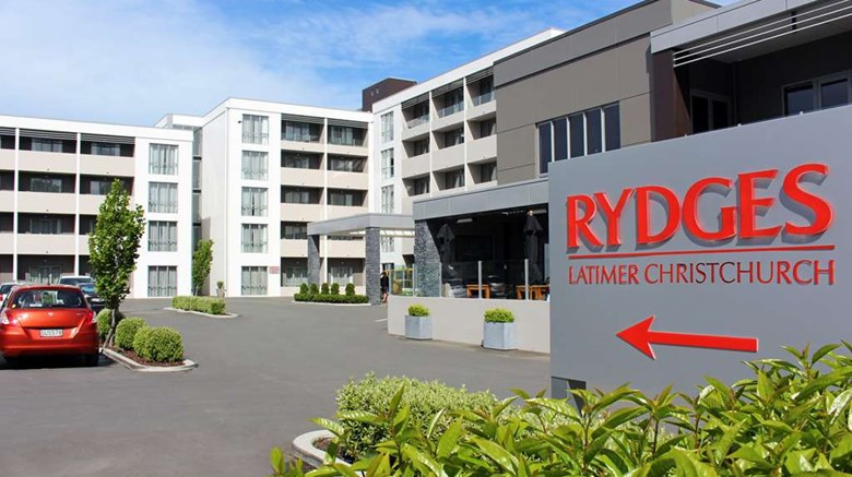 "Rydges Latimer Christchurch Exterior. Images powered by <a href=""http://web.iceportal.com""  target=""_blank"">Ice Portal</a>."