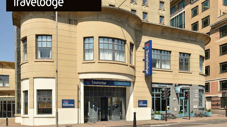 "Travelodge Brighton Seafront Hotel Exterior. Images powered by <a href=""http://web.iceportal.com""  target=""_blank"">Ice Portal</a>."
