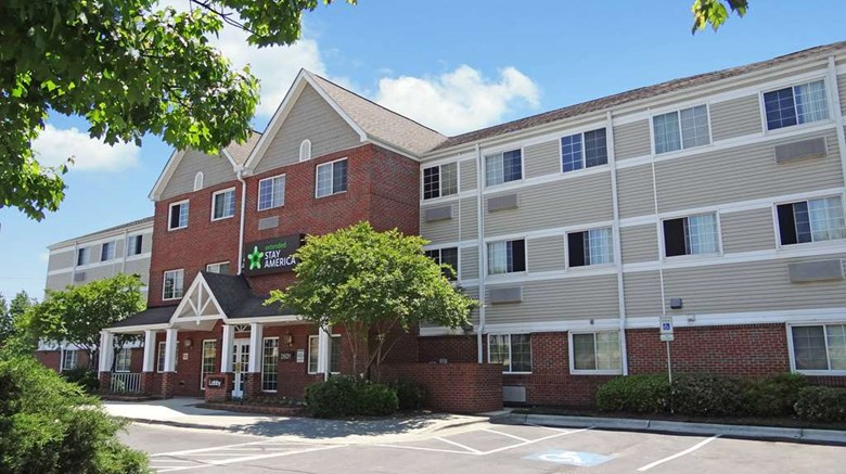 "Extended Stay America - Raleigh - NE Exterior. Images powered by <a href=""http://web.iceportal.com""  target=""_blank"">Ice Portal</a>."