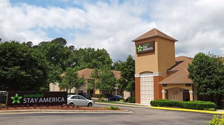 "Extended Stay America - Raleigh Exterior. Images powered by <a href=""http://web.iceportal.com""  target=""_blank"">Ice Portal</a>."