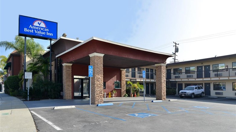 "Americas Best Value Inn Pasadena Exterior. Images powered by <a href=""http://web.iceportal.com""  target=""_blank"">Ice Portal</a>."