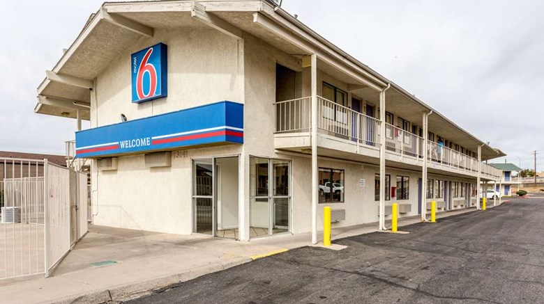 "Motel 6 Albuquerque Northeast Exterior. Images powered by <a href=""http://web.iceportal.com""  target=""_blank"">Ice Portal</a>."