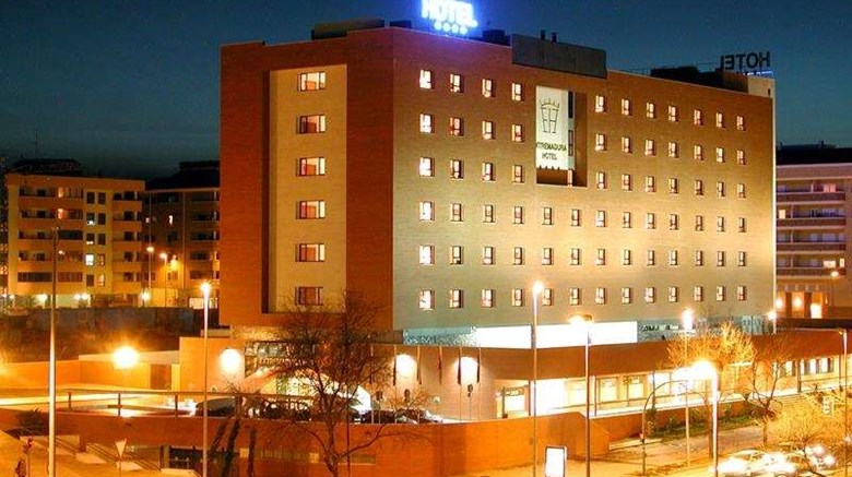 "Extremadura Hotel by Sercotel Exterior. Images powered by <a href=""http://web.iceportal.com""  target=""_blank"">Ice Portal</a>."
