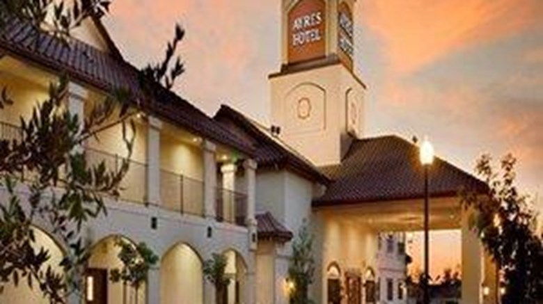 "Ayres Hotel Redlands Exterior. Images powered by <a href=""http://web.iceportal.com""  target=""_blank"">Ice Portal</a>."