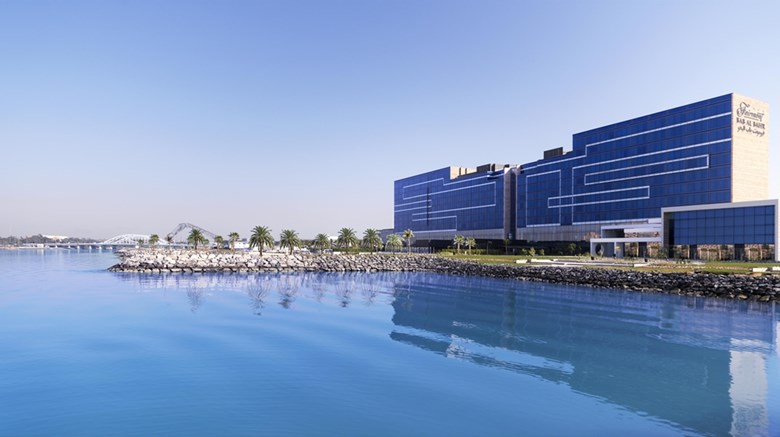 "Fairmont Bab Al Bahr Exterior. Images powered by <a href=""http://web.iceportal.com""  target=""_blank"">Ice Portal</a>."