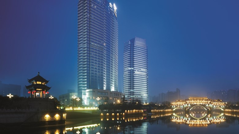 "Shangri-La Hotel Chengdu Exterior. Images powered by <a href=""http://web.iceportal.com""  target=""_blank"">Ice Portal</a>."