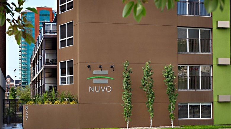 "Nuvo Hotel Suites Exterior. Images powered by <a href=""http://www.leonardo.com""  target=""_blank"">Leonardo</a>."