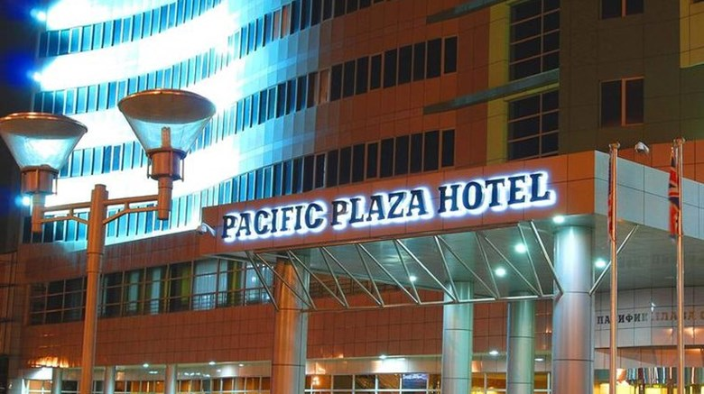 "Pacific Plaza Hotel Exterior. Images powered by <a href=""http://www.leonardo.com""  target=""_blank"">Leonardo</a>."