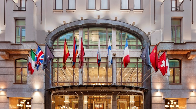 "The St. Regis Moscow Nikolskaya Exterior. Images powered by <a href=""http://www.leonardo.com""  target=""_blank"">VFM Leonardo</a>."