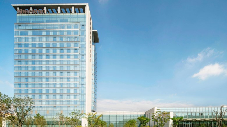 "Sheraton Langfang Chaobai River Hotel Exterior. Images powered by <a href=""http://www.leonardo.com""  target=""_blank"">Leonardo</a>."