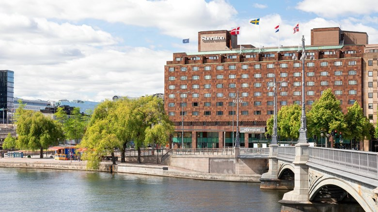 "Sheraton Stockholm Hotel Exterior. Images powered by <a href=""http://www.leonardo.com""  target=""_blank"">VFM Leonardo</a>."