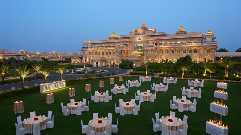 "ITC Grand Bharat, Luxury Collection Exterior. Images powered by <a href=""http://www.leonardo.com""  target=""_blank"">VFM Leonardo</a>."