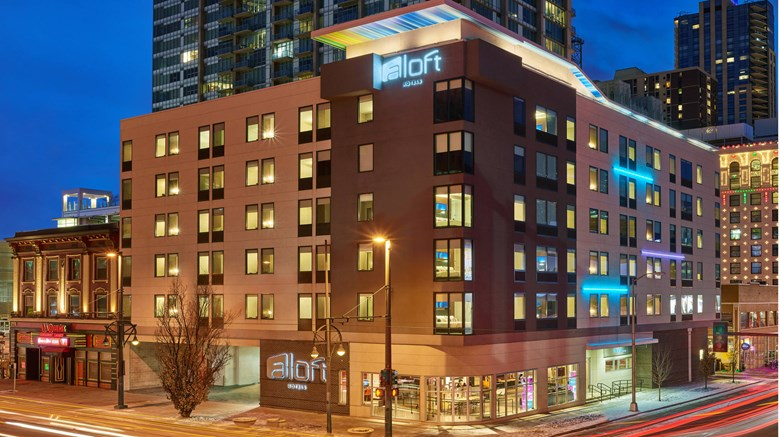 "aloft Denver Downtown Exterior. Images powered by <a href=""http://www.leonardo.com""  target=""_blank"">Leonardo</a>."