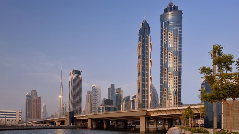 "JW Marriott Marquis Dubai Exterior. Images powered by <a href=""http://www.leonardo.com""  target=""_blank"">Leonardo</a>."