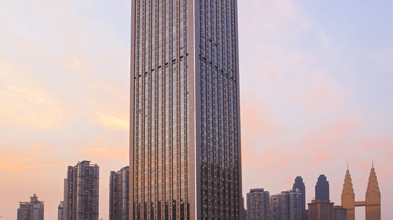 "Chongqing Marriott Hotel Exterior. Images powered by <a href=""http://www.leonardo.com""  target=""_blank"">Leonardo</a>."