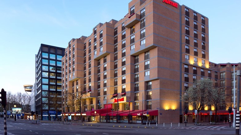 "Marriott Amsterdam Hotel Exterior. Images powered by <a href=""http://www.leonardo.com""  target=""_blank"">Leonardo</a>."