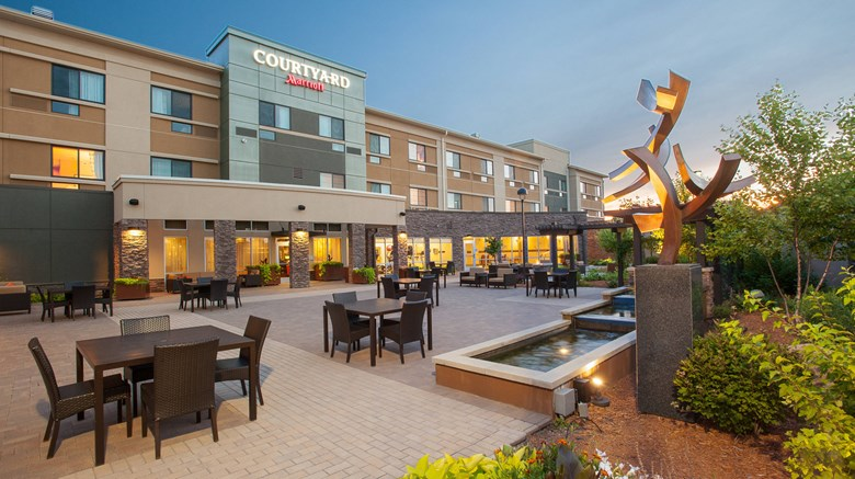 "Courtyard by Marriott Exterior. Images powered by <a href=""http://www.leonardo.com""  target=""_blank"">VFM Leonardo</a>."