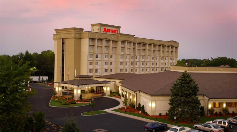 "Rochester Airport Marriott Exterior. Images powered by <a href=""http://www.leonardo.com""  target=""_blank"">Leonardo</a>."