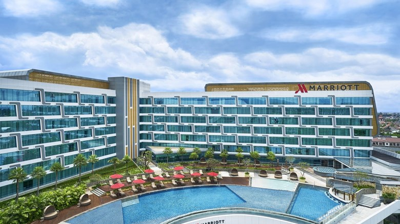 "Yogyakarta Marriott Hotel Exterior. Images powered by <a href=""http://www.leonardo.com""  target=""_blank"">Leonardo</a>."