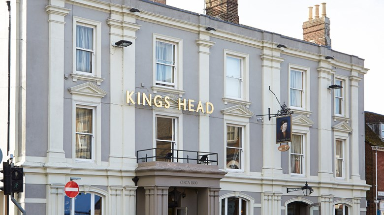 "The King's Head Exterior. Images powered by <a href=""http://www.leonardo.com""  target=""_blank"">Leonardo</a>."