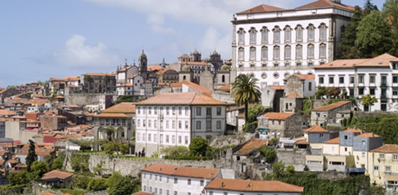 View of Porto, famous city located in northern of Portugal.