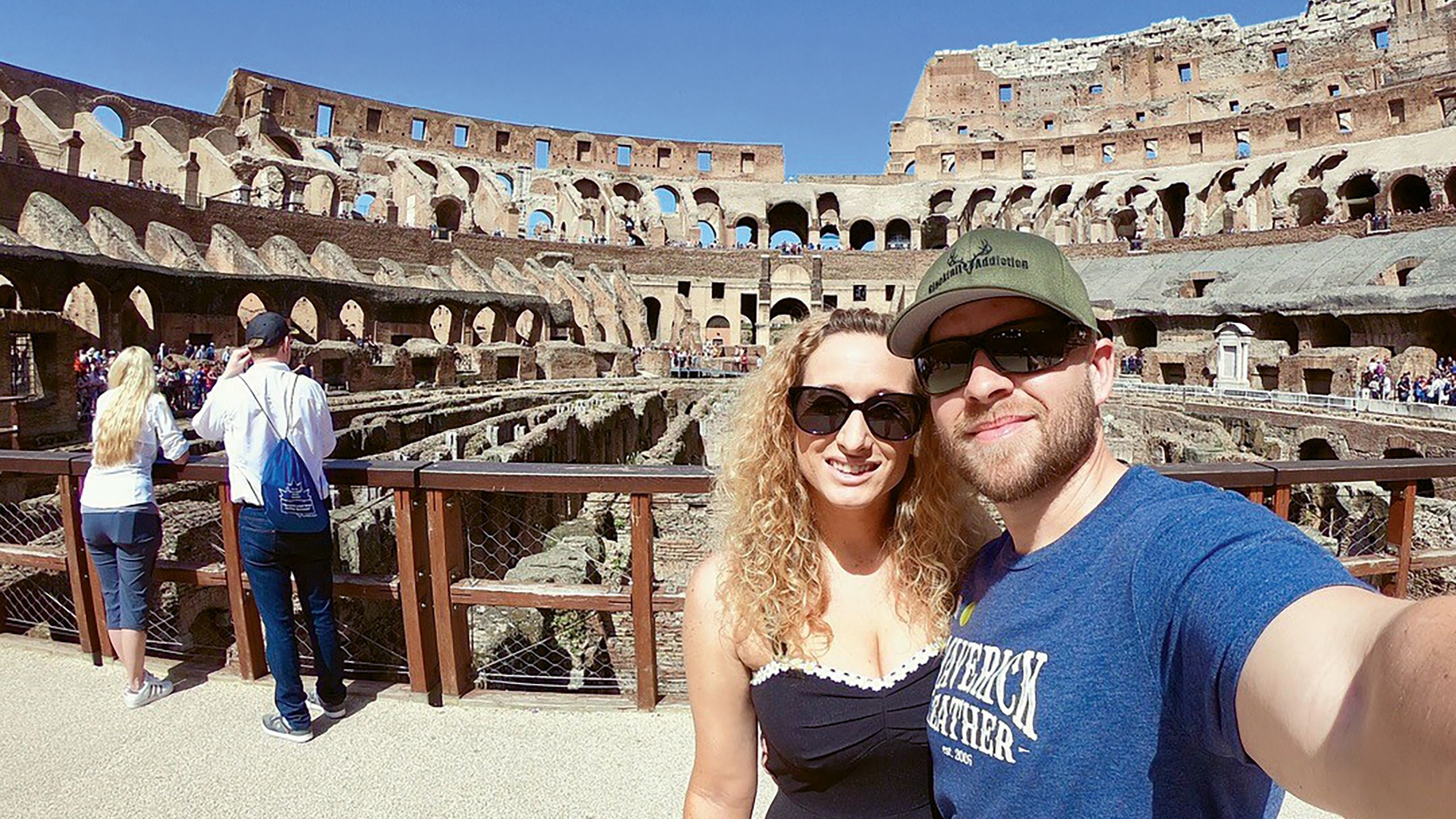 Barbara Daniels with her fiance in Italy. Daniels won a contest for heritage travel on iHeartRadio after getting her DNA analysis from 23andMe.