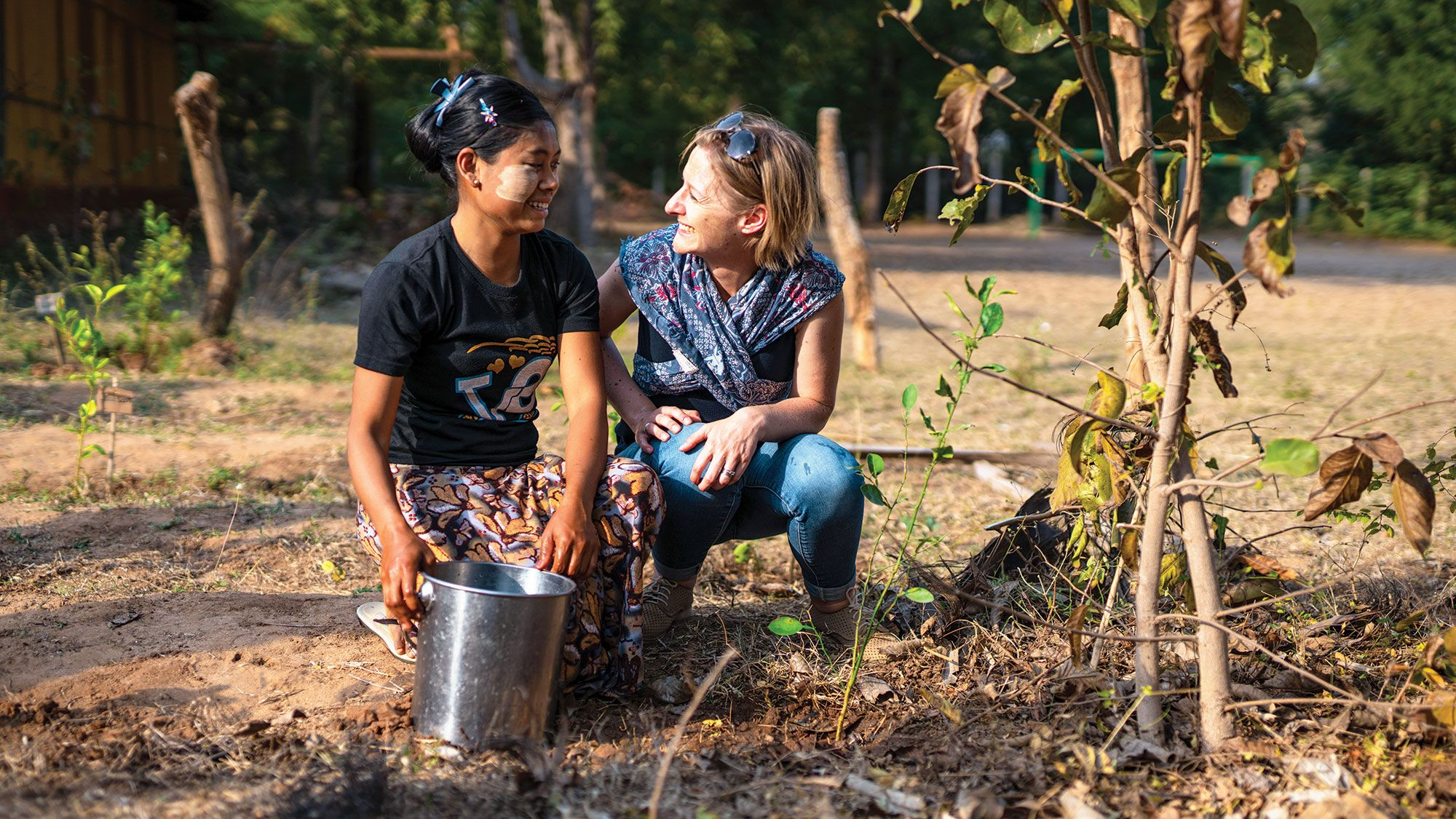 The Intrepid Foundation works with ActionAid Myanmar on tree-planting projects.