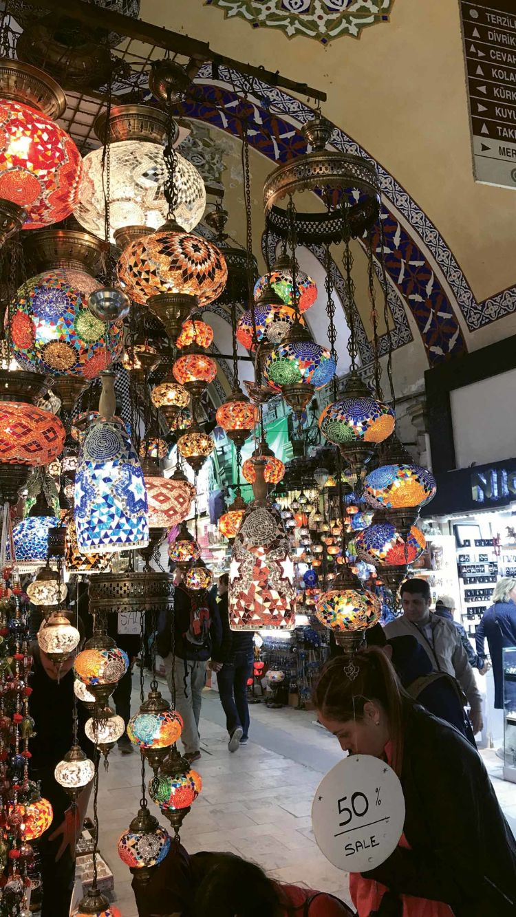 Istanbul's Grand Bazaar, one of the largest and oldest covered markets in the world.