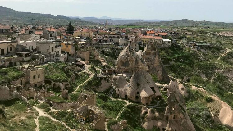Cappadocia is known for its so-called fairy chimney rock formations.