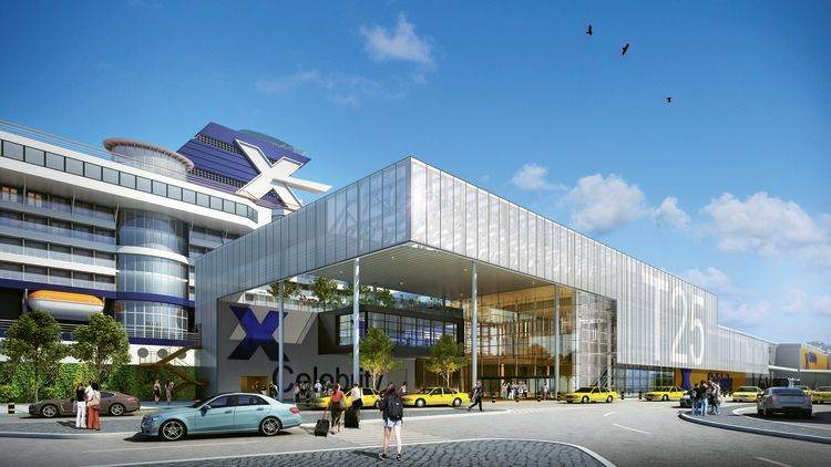 A rendering of the $121 million T25 terminal at Port Everglades.