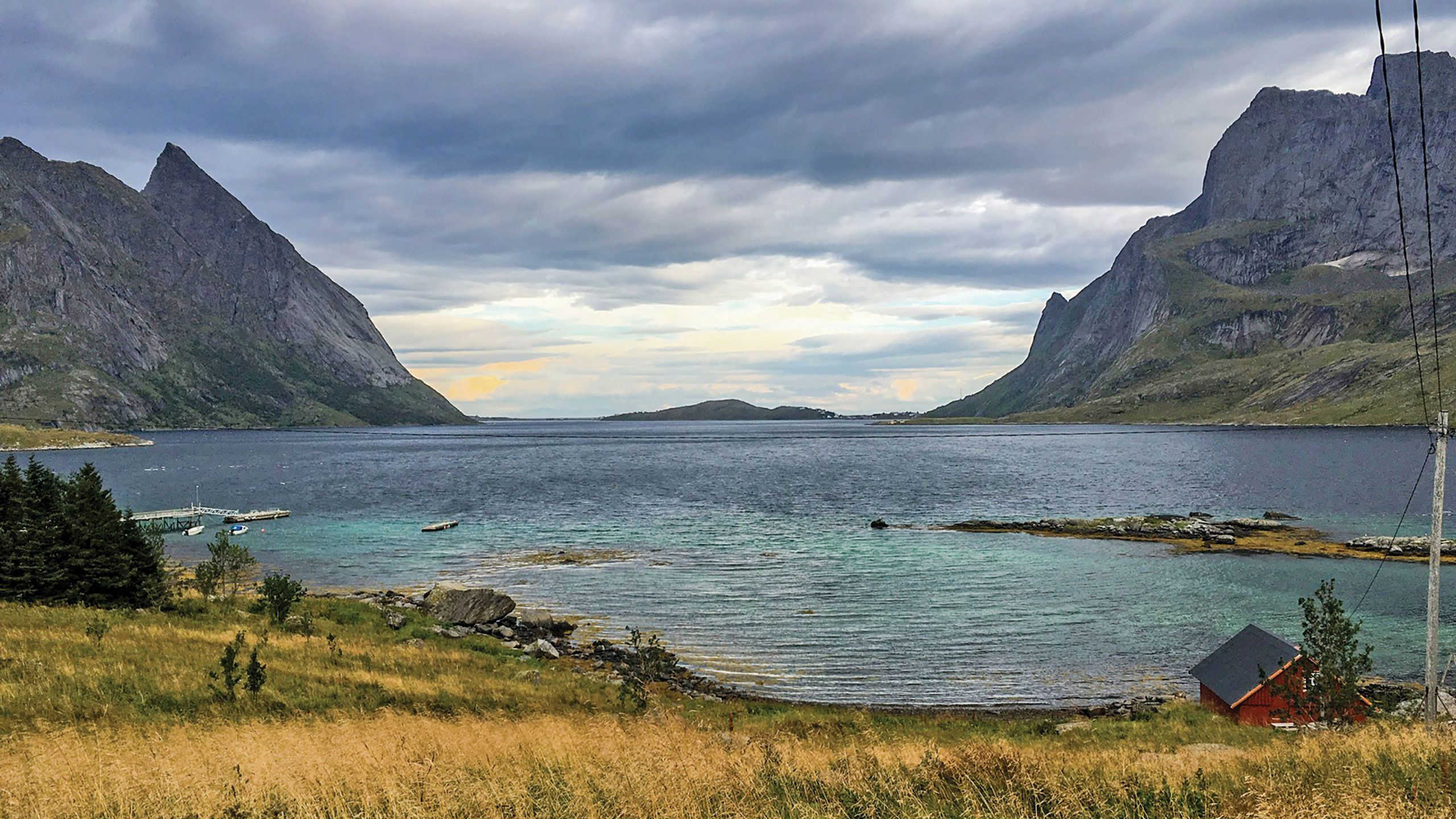 A fjord near Reine, one of the villages on the Lofoten archipelago. Photo by William Nash