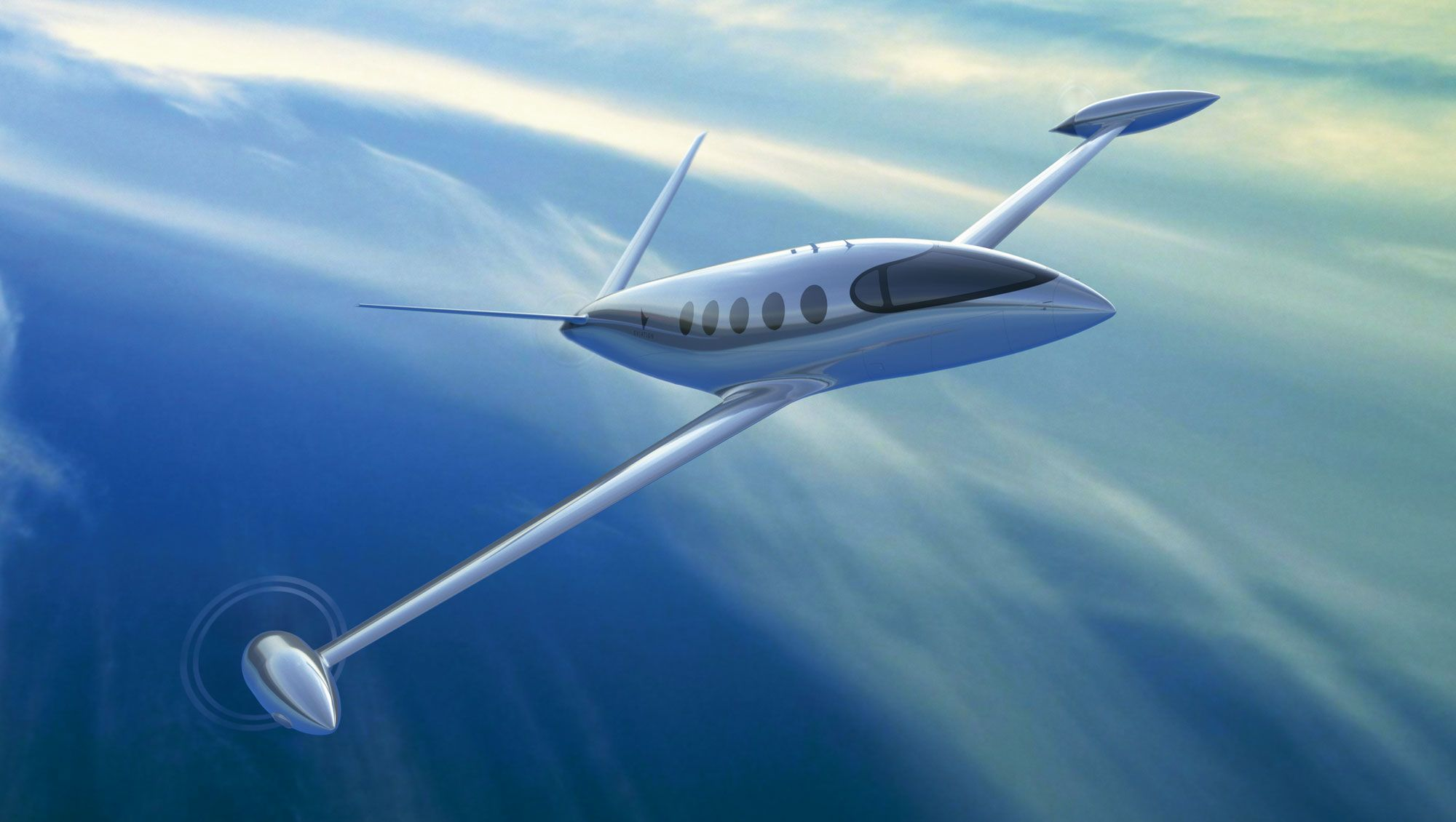 A rendering of the Eviation Alice electric aircraft frame, which was unveiled at the Paris Air Show in June. (Photo courtesy of Eviation)