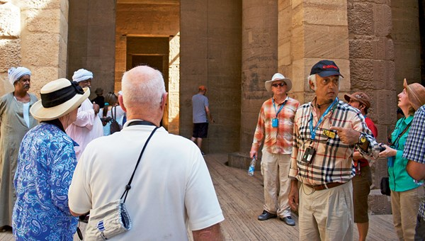 Abercrombie & Kent Egyptologist Akram Allam has been taking groups through Egypt since the 1970s.