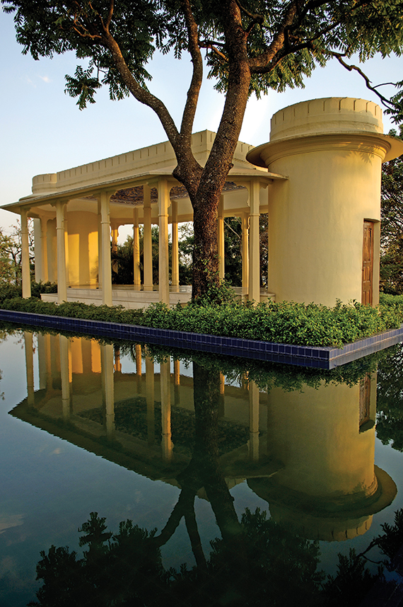 Yoga classes are held at the resort's pavilion. Spa services include ayurvedic and other alternative healing treatments.