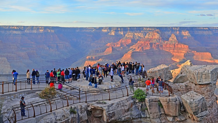 The South Rim Of Grand Canyon National Park