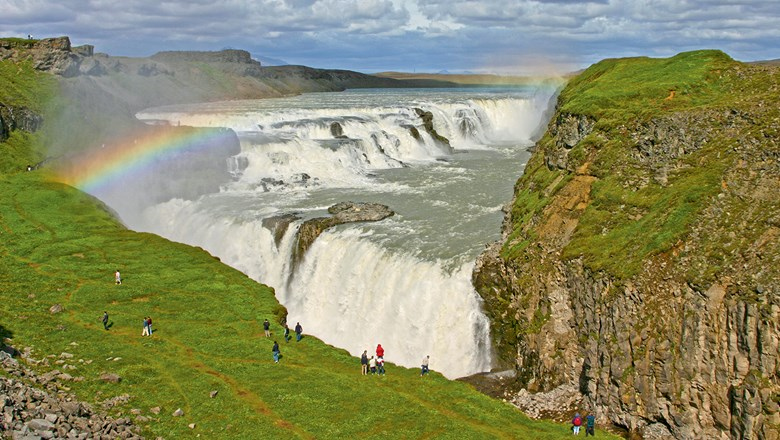 Gullfoss Falls in Iceland, among the hot destinations for 2015.