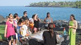 A group at the Sheraton Kona Resort & Spa at Keauhou Bay in Kailua-Kona.