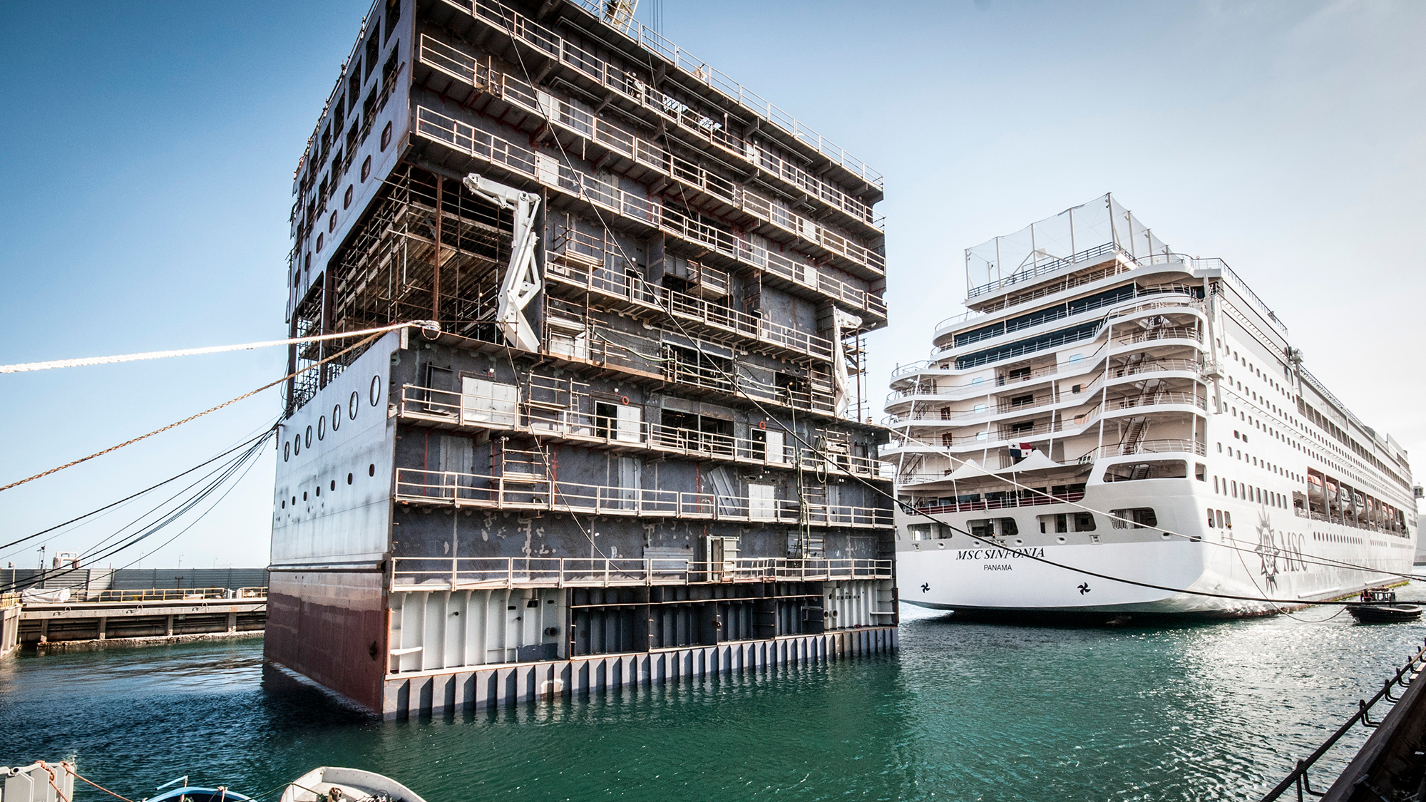 The stretching of MSC Sinfonia is underway: Travel Weekly Tom Cruise Height