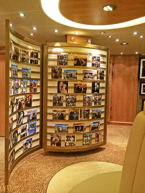 Photo displays aboard Princess Cruises' Regal Princess. Like other lines, Princess Cruises has carved out space for a high-end custom portrait business. Photo Credit: Tom Stieghorst