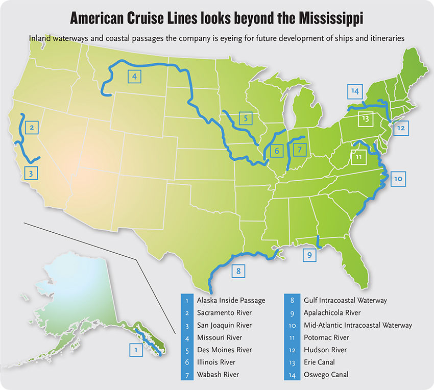American Cruise Lines To Give US River Cruising A New Look - Us map waterways