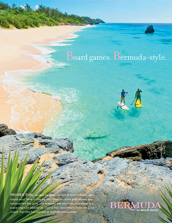 "Bermuda's ""Proper Fun"" campaign emphasizes the island's British, Caribbean and African roots."
