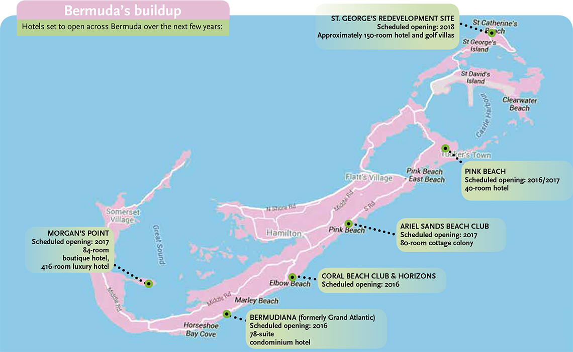 Bermuda Back On Track Travel Weekly - Bermuda islands map
