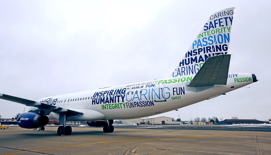 JetBlue's new livery evokes the spirit of giving