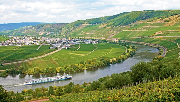The Avalon Luminary on Germany's Moselle River.