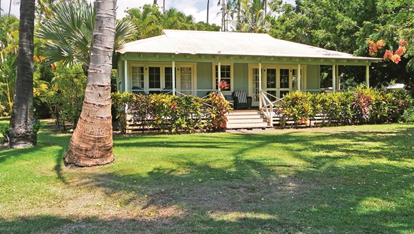 Accommodations at Waimea Plantation Cottages date to Kauai's sugar plantation era.