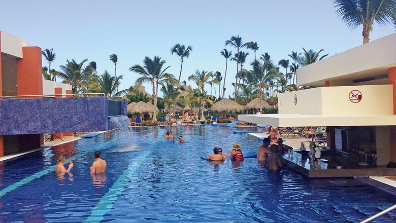 A pool at the Breathless Resort in Punta Cana, the first property under the all-inclusive, adults-only AMResorts brand.