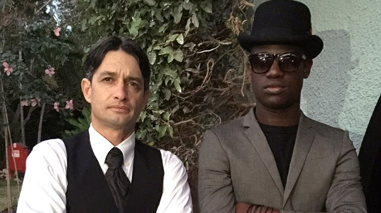 The ''bouncers'' at the Rabbit Hole speakeasy were, from left, Ramel Sobrino, resort general manager, and Daniel Taylor, entertainment coordinator.