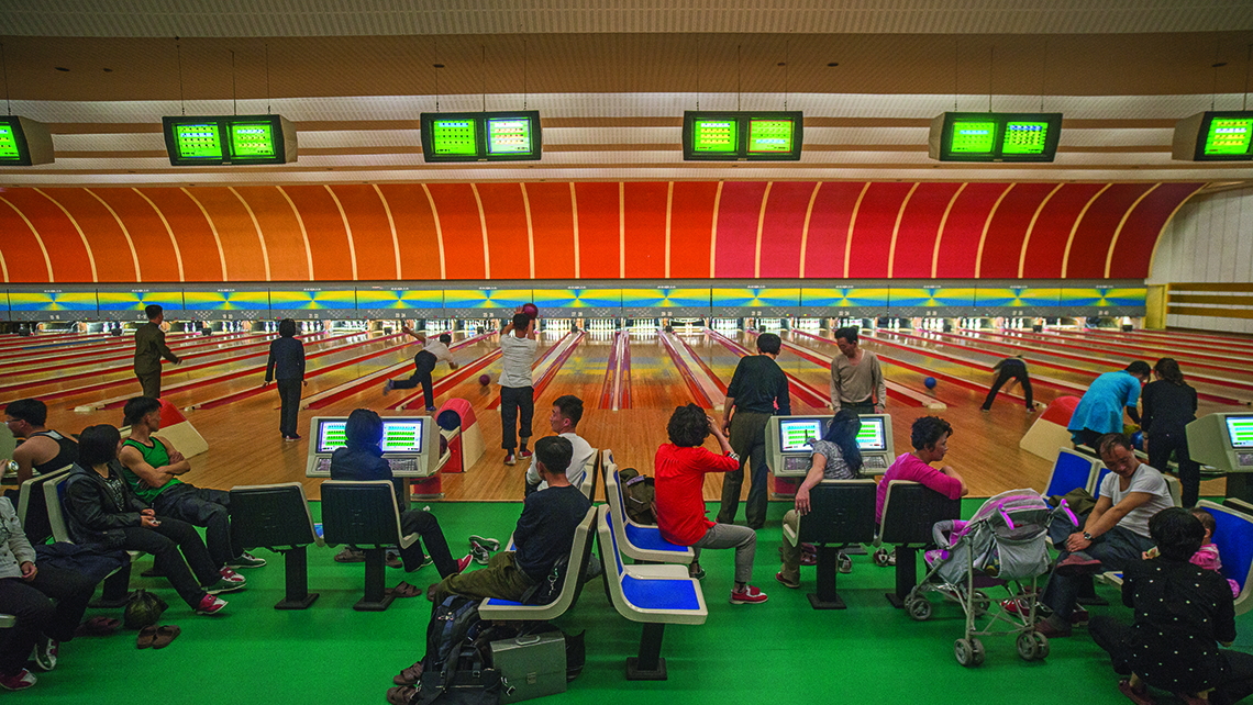 A bowling alley in Pyongyang.