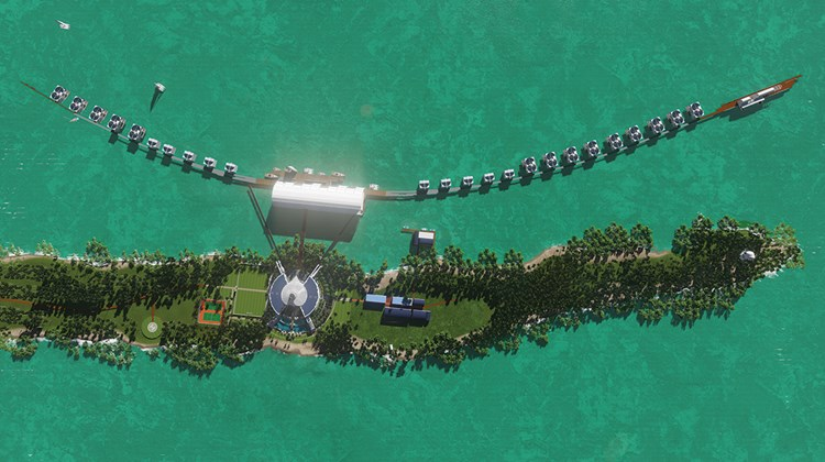 The reef will be artificially expanded to promote fish breeding.
